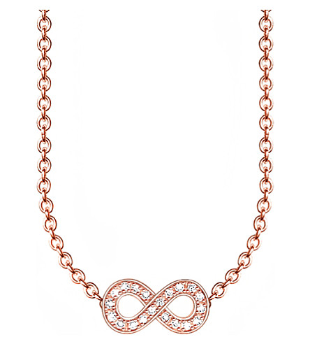 THOMAS SABO Glam & Soul infinity 18ct rose gold-plated diamond necklace