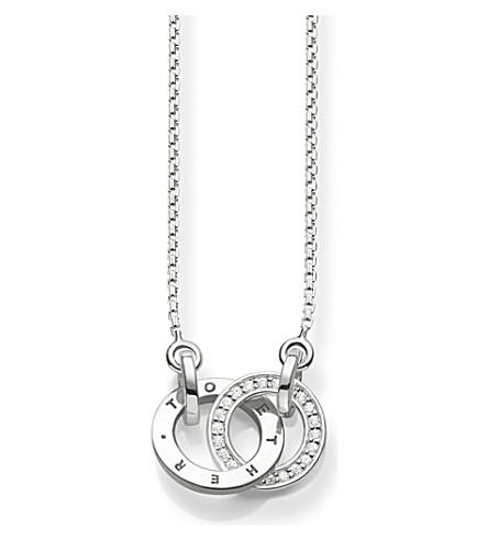 THOMAS SABO 一起纯银和钻石项链