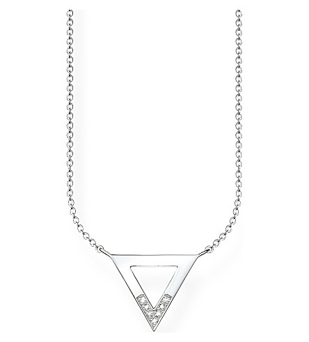 THOMAS SABO Triangle sterling silver and diamond necklace