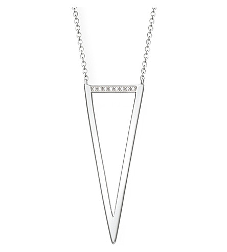 THOMAS SABO 三角纯银和钻石项链