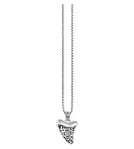 THOMAS SABO Shark tooth sterling silver and diamond necklace