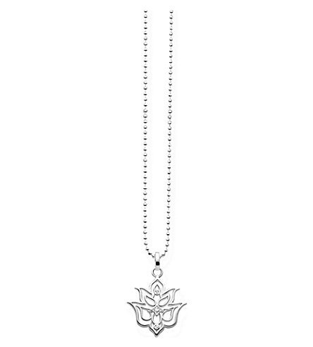 THOMAS SABO Lotus flower sterling silver and diamond necklace