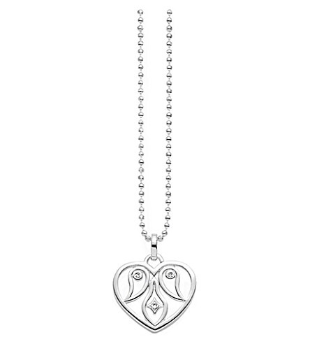 THOMAS SABO Cut-out heart sterling silver and diamond necklace