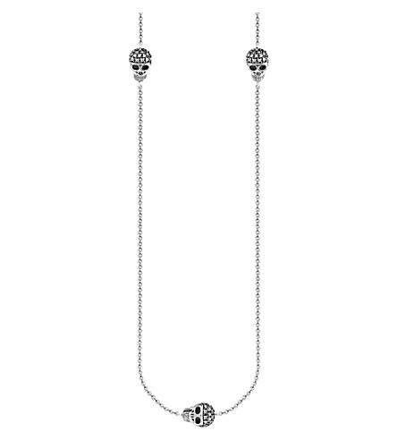 THOMAS SABO Skulls sterling silver and diamond necklace