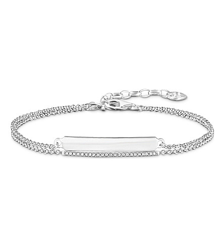 THOMAS SABO Love Bridge silver and diamond bracelet