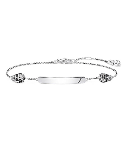 THOMAS SABO Love Bridge skull sterling silver and diamond bracelet