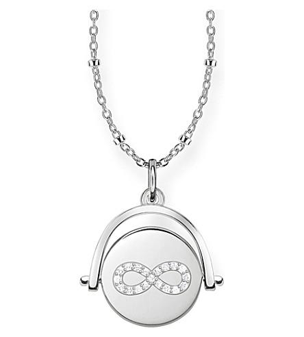 THOMAS SABO 无限硬币纺18ct 玫瑰金纯银和钻石项链
