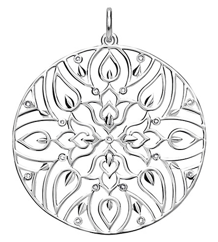 THOMAS SABO Mandala sterling silver and diamond pendant