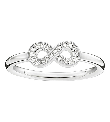 THOMAS SABO Glam & Soul sterling silver and zirconia-pavé infinity ring