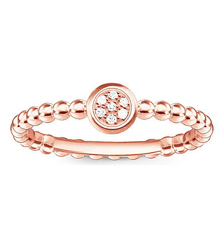 THOMAS SABO Glam & soul 18ct rose gold-plated diamond ring
