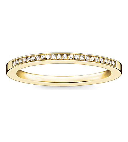 THOMAS SABO Infinity 18ct yellow gold-plated diamond band