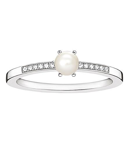 THOMAS SABO 纯银, 钻石和珍珠戒指