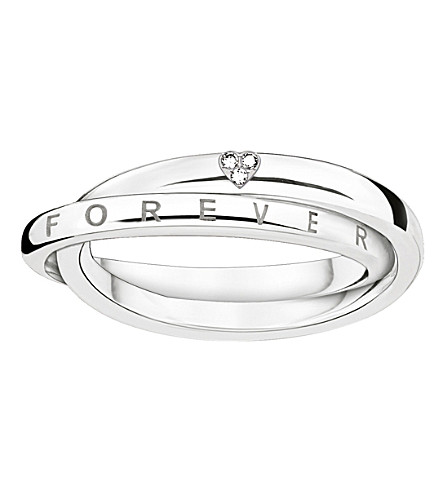 THOMAS SABO Together intertwined sterling silver and diamond ring