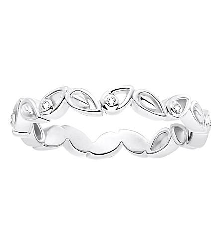 THOMAS SABO 叶子纯银和金刚石圆环