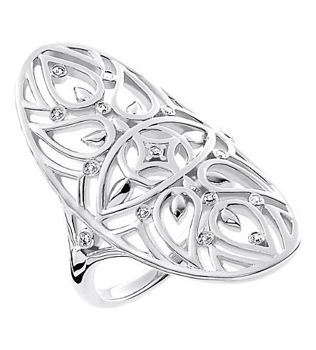 THOMAS SABO 邪恶的眼睛曼荼罗纯银和钻石戒指