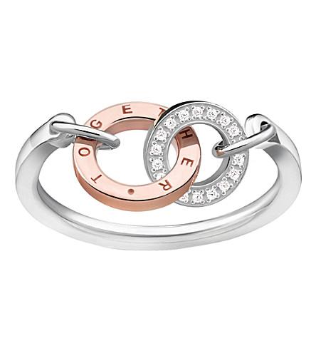 THOMAS SABO 纯银和钻石戒指一起