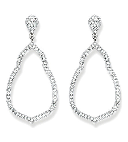 THOMAS SABO Fatima's Garden sterling silver and white pavé zirconia drop earrings