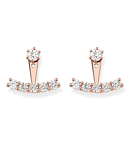 THOMAS SABO Rose-gold cubic zirconia ear jackets