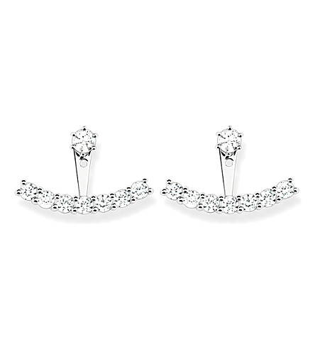 THOMAS SABO Sterling silver and white zirconia ear jackets