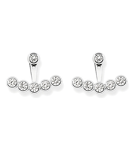 THOMAS SABO Sterling silver and white pavé zirconia ear jackets