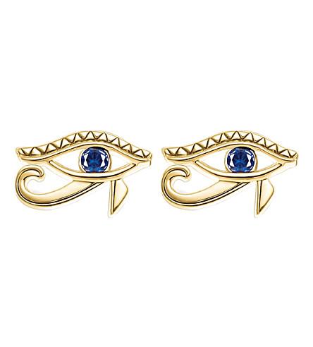 THOMAS SABO Eye of Horus 18ct yellow gold-plated studs