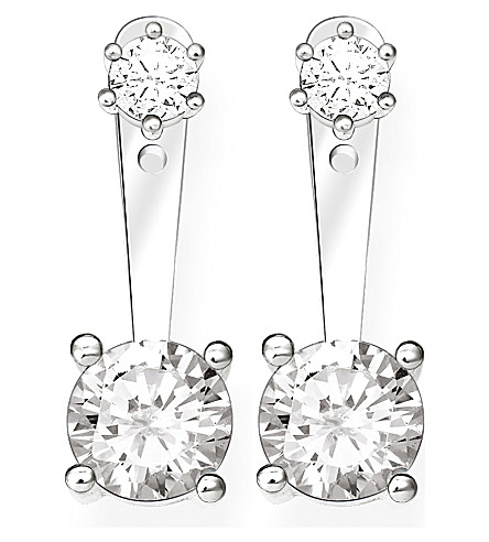 THOMAS SABO Glam & Soul sterling silver and white zirconia earrings