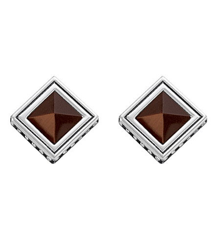 THOMAS SABO Africa Brown sterling silver and tiger's eye earrings