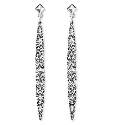 THOMAS SABO Africa dropped sterling silver earrings