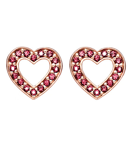 THOMAS SABO Glam & Soul heart 18ct rose gold-plated earrings