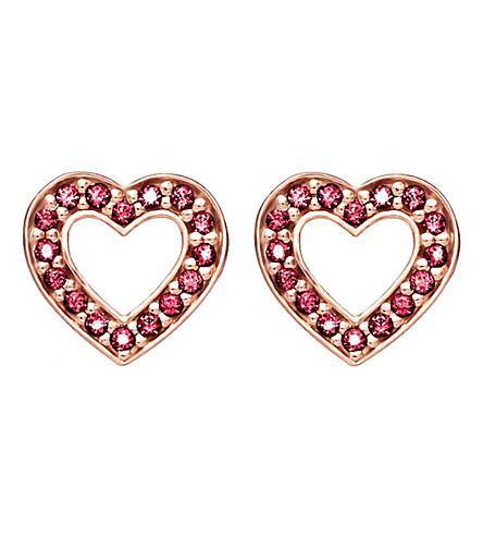 THOMAS SABO 魅力与灵魂中调18ct 玫瑰镀金耳环
