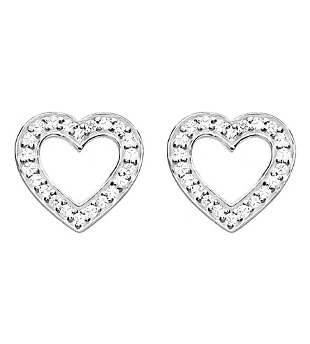 THOMAS SABO Heart sterling silver and zirconia earrings