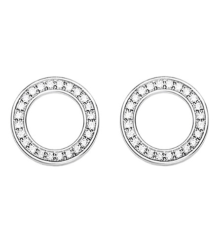 THOMAS SABO Circle sterling silver and zirconia earrings