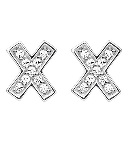 THOMAS SABO X ear sterling silver and zirconia earrings