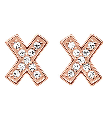 THOMAS SABO X 18ct rose gold-plated earrings