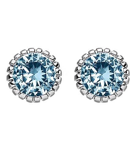 THOMAS SABO Glam & soul blue stone sterling silver ear studs