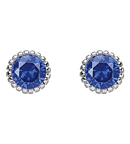 THOMAS SABO Glam & soul dark blue stone sterling silver ear studs