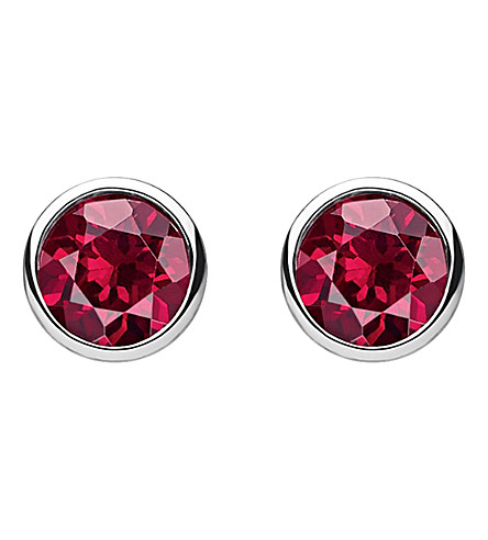 THOMAS SABO Classic red stone sterling silver ear studs