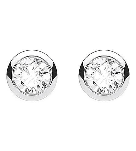 THOMAS SABO Classic white zirconia stone sterling silver ear studs
