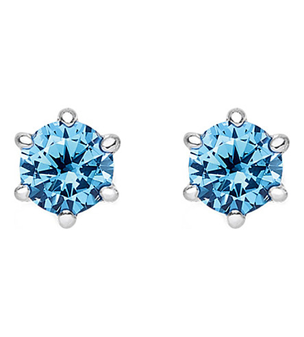 THOMAS SABO Glam and Soul blue stone sterling silver earrings