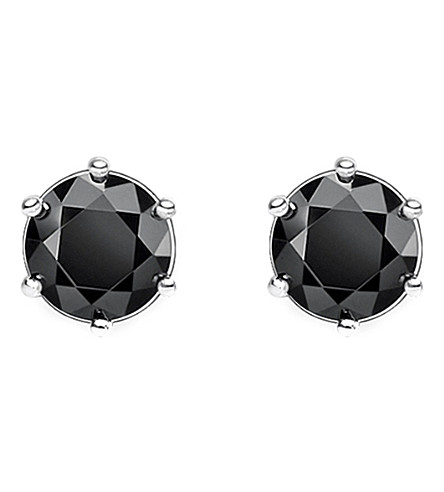 THOMAS SABO Glam and Soul black stone sterling silver earrings
