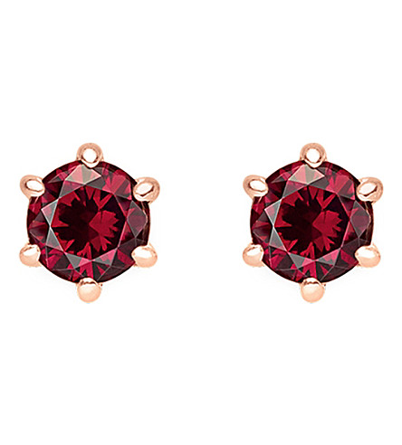 THOMAS SABO Glam and Soul red stone sterling silver and 18k rose-gold plated earrings