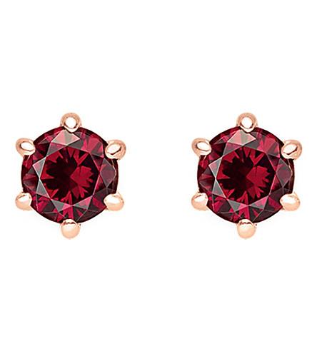 THOMAS SABO 华丽和灵魂红石纯银和18k 玫瑰-镀金耳环