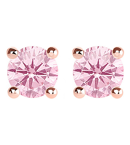 THOMAS SABO Glam and Soul pink stone large sterling silver and 18k rose-gold plated earrings