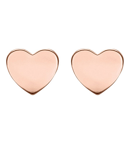 THOMAS SABO Glam & Soul rose-gold heart disc ear studs