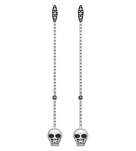 THOMAS SABO Rebel at Heart sterling silver skull earrings