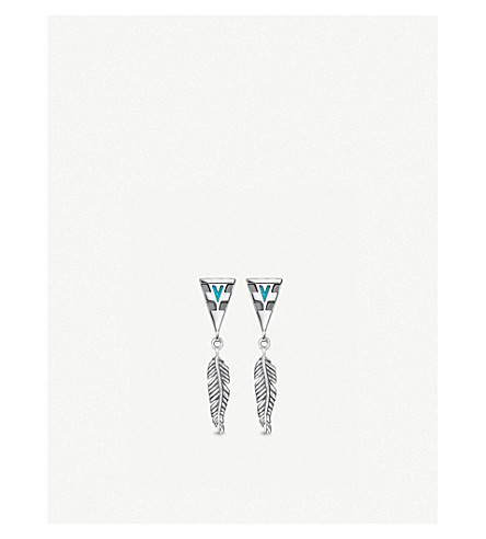 THOMAS SABO Tropical sterling silver feather earrings
