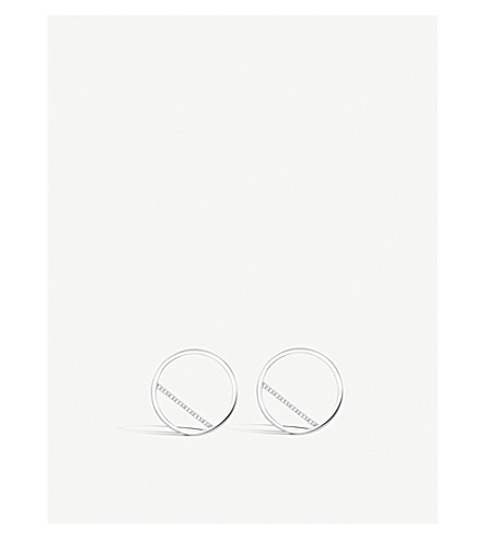 THOMAS SABO Classic Circle sterling silver and zirconia earrings