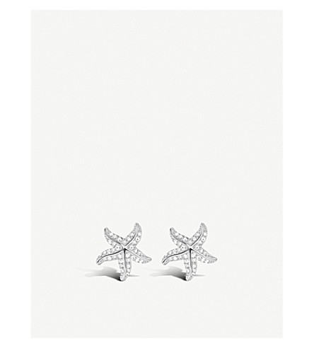 THOMAS SABO Starfish sterling silver and zirconia earrings