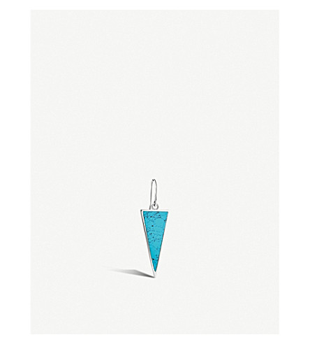 THOMAS SABO Charm Club triangle sterling silver and turquoise earring