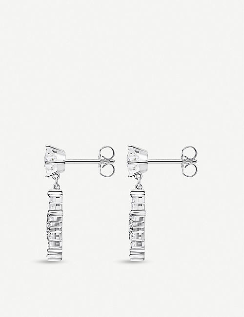 THOMAS SABO Star-shaped zirconia and sterling silver drop earrings